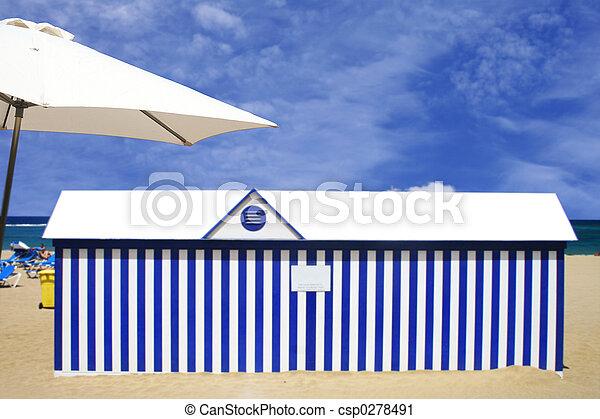 La escena de la playa - csp0278491