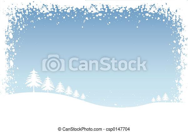 Escena de invierno - csp0147704