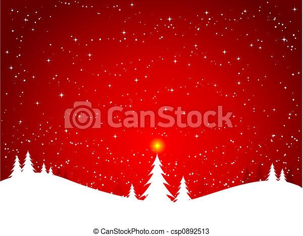 Escena de invierno - csp0892513