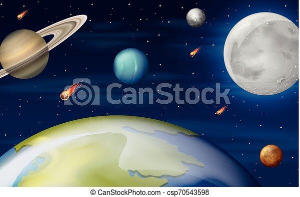 Una escena de espacio - csp70543598