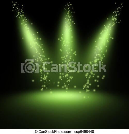 Escena iluminada por un foco - csp6498440