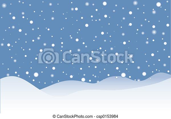 Escena de nieve - csp0153984