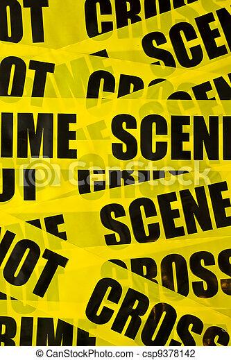 Trasfondo de escena del crimen - csp9378142