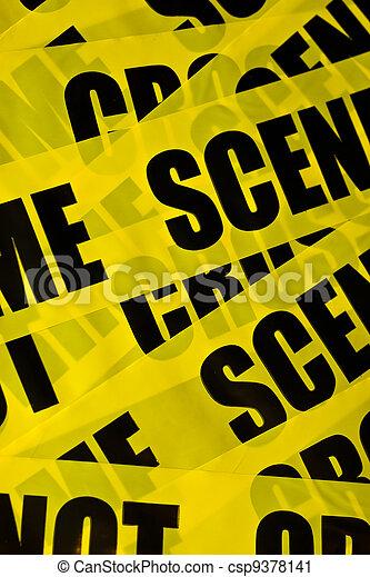 Trasfondo de escena del crimen - csp9378141