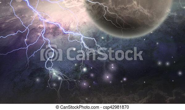 Escena del espacio profundo - csp42981870
