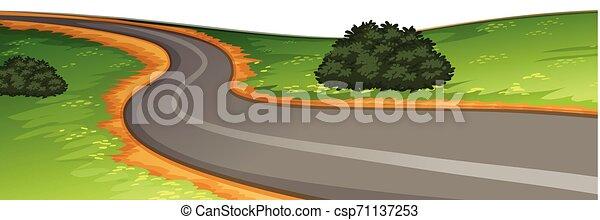 Una escena de carretera rural - csp71137253