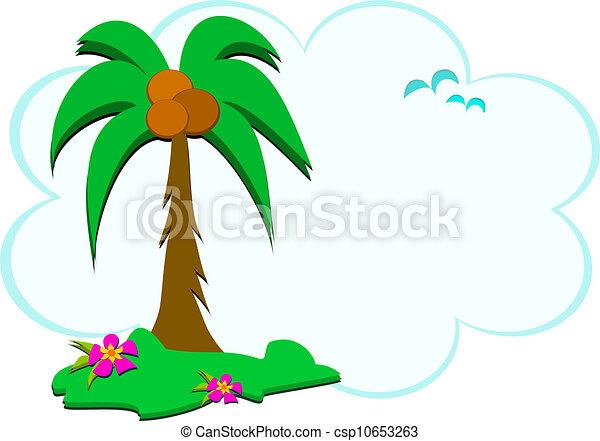 Escena tropical de la naturaleza - csp10653263