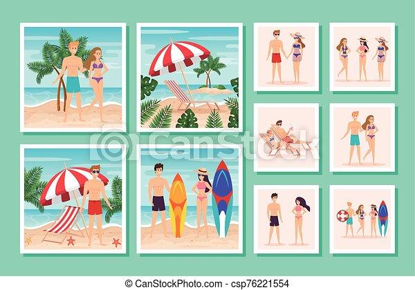 escenas, gente, verano, lío - csp76221554