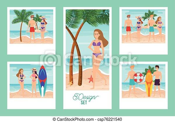 escenas, gente, verano, lío - csp76221540