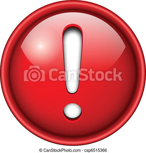 esclamazione, icona, button., marchio - csp6515366