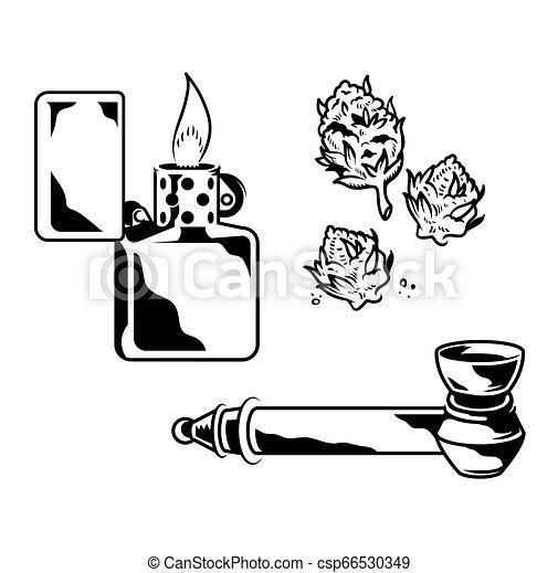 escogitare, fumo, marijuana - csp66530349