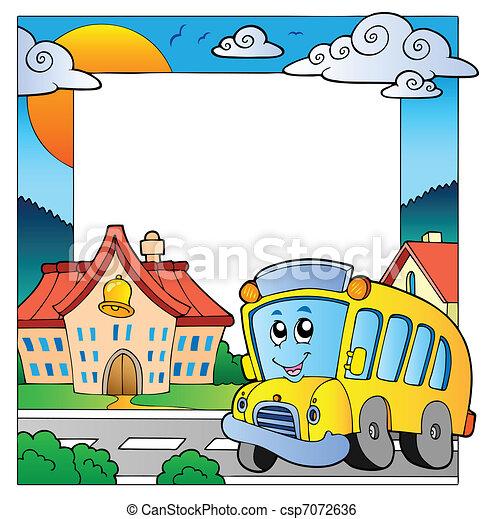 escola, 5, tema, quadro - csp7072636