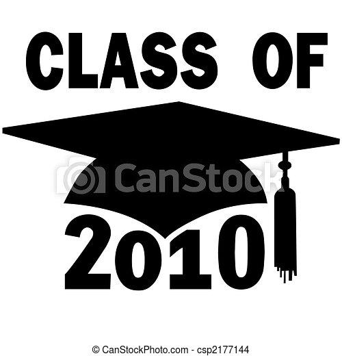 escola, boné, graduação, classe, alto, faculdade, 2010 - csp2177144