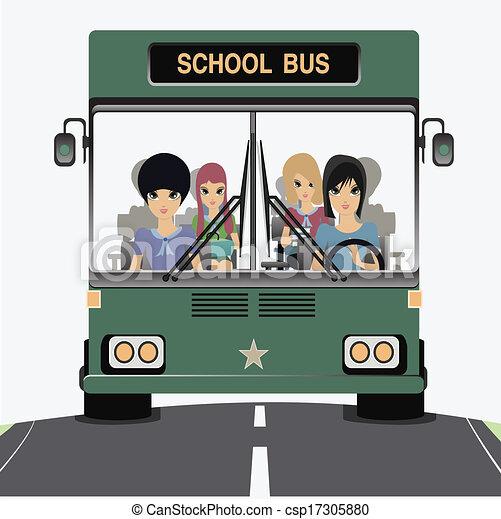 escola, bus. - csp17305880
