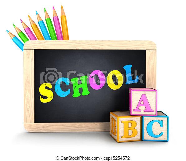 escola, conceito, 3d - csp15254572
