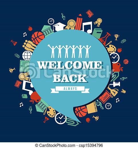 escola, global, costas, icons., social, educação, bolha - csp15394796