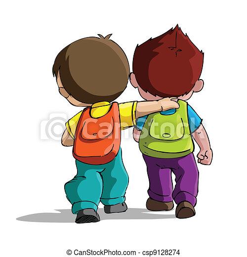 escola, ir, crianças - csp9128274