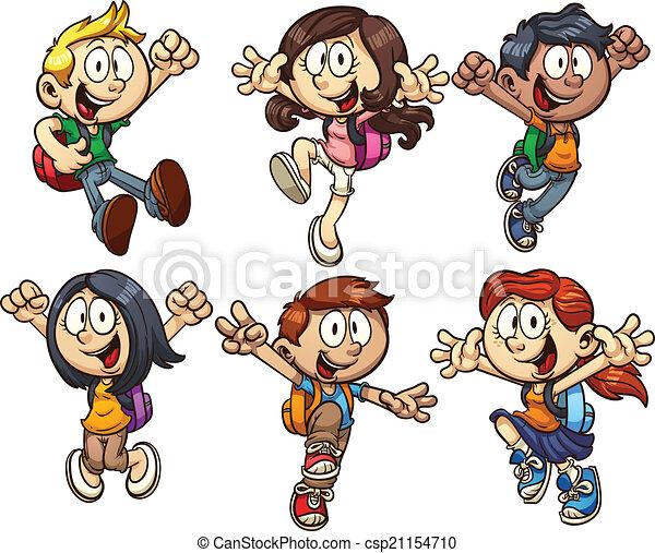 Niños de la escuela - csp21154710