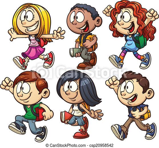 Niños de la escuela - csp20958542