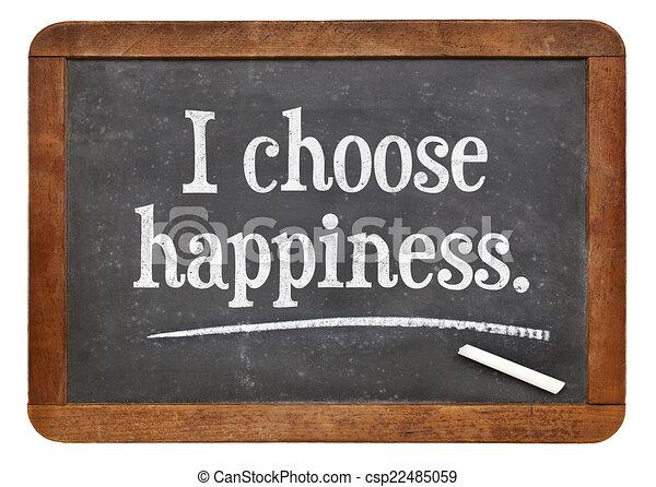 escolher, felicidade - csp22485059