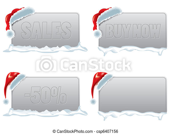 escompte, étiquette, noël, ventes - csp6407156