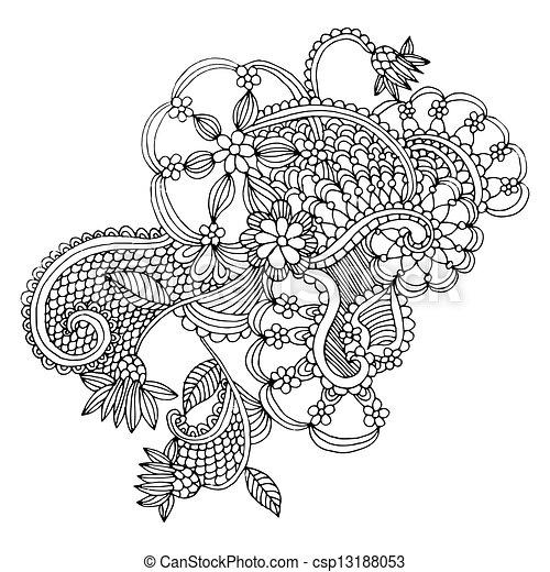 Diseño bordado de neckline - csp13188053