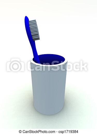 escova de dentes - csp1719384