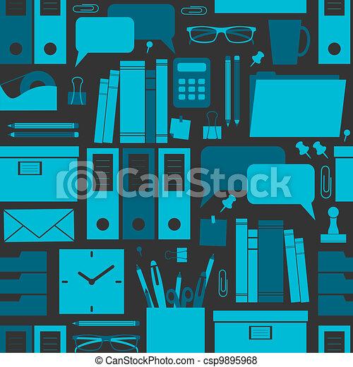 escritório, fundo - csp9895968