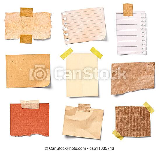 escritório, papel, negócio, nota, vindima - csp11035743