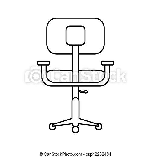 Escritorio Pictograma Conforto Desenho Local Trabalho Cadeira