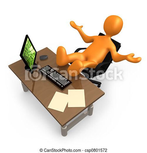 escritório, relaxamento - csp0801572