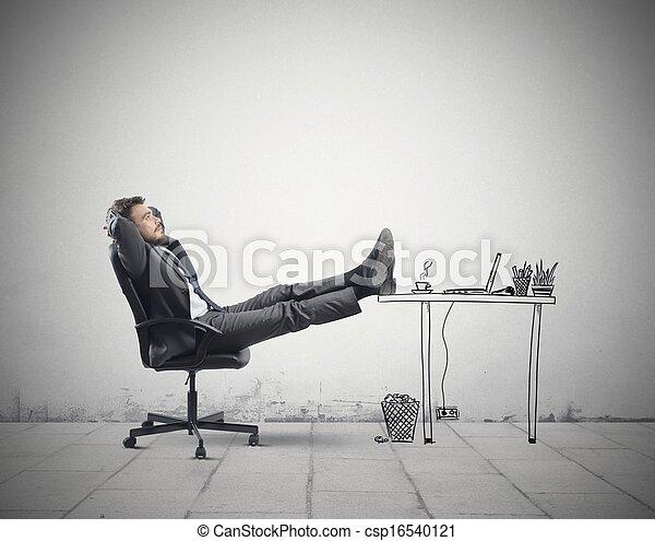 escritório, relaxe - csp16540121