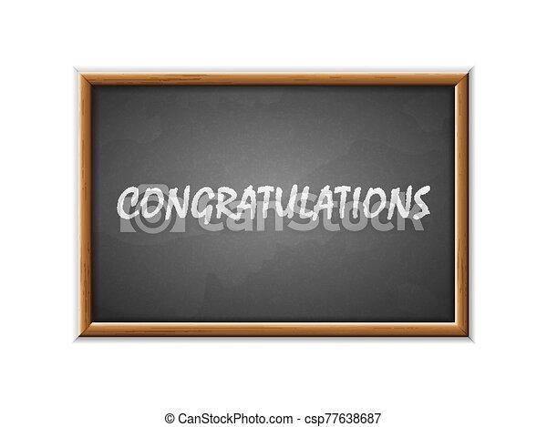 escrito, felicitaciones, pizarra - csp77638687