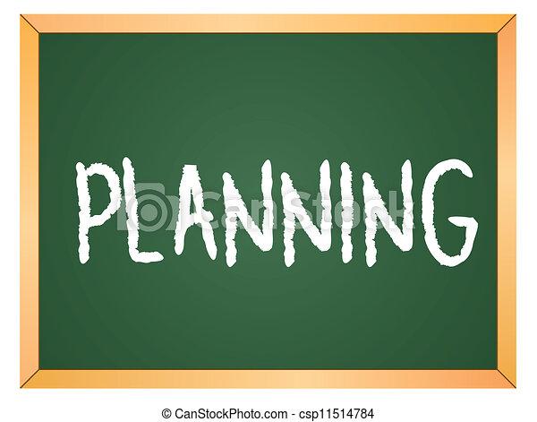 escrito, planificação, chalkboard - csp11514784