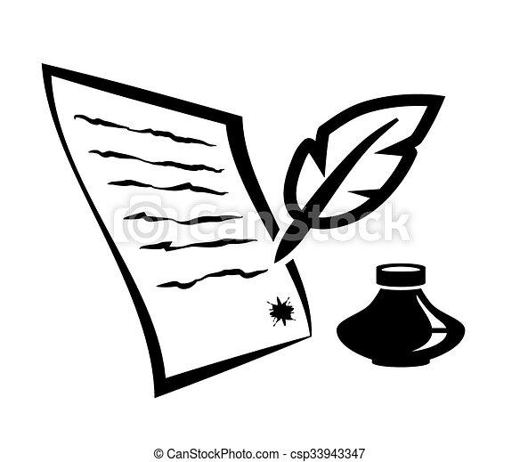 Escrito pluma carta plano de fondo escrito negro for Fondos de escrito