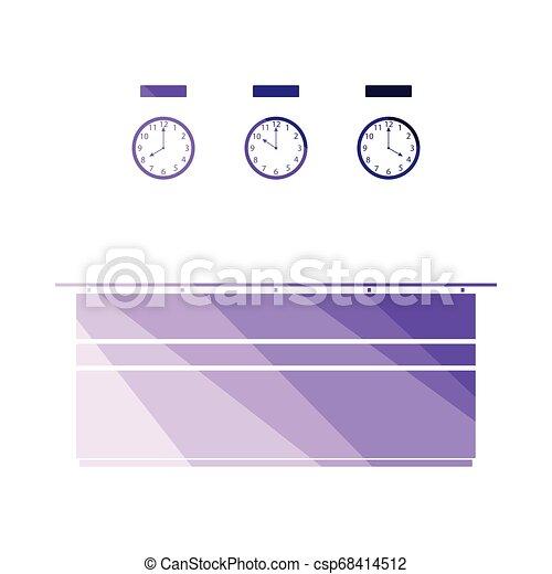 icono de recepción de la oficina - csp68414512
