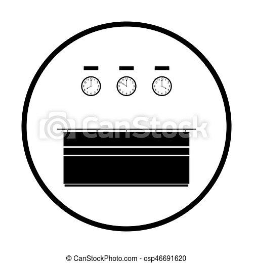icono de recepción de la oficina - csp46691620