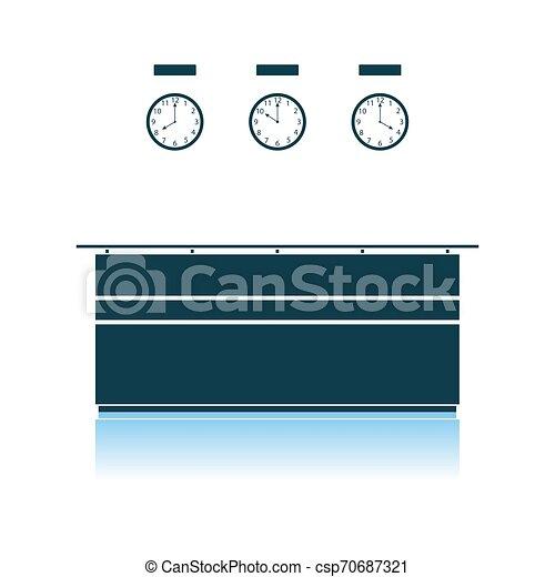 icono de recepción de la oficina - csp70687321