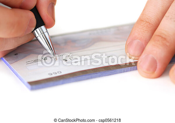 Escribiendo un cheque - csp0561218