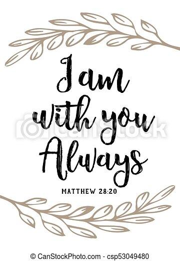 """Estoy contigo siempre"""" vector tipografía bibliografía poster de diseño de escritura - csp53049480"""