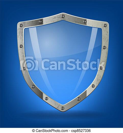 escudo, ícone - csp8527336