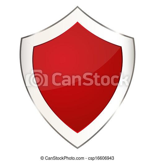 escudo, vermelho - csp16606943
