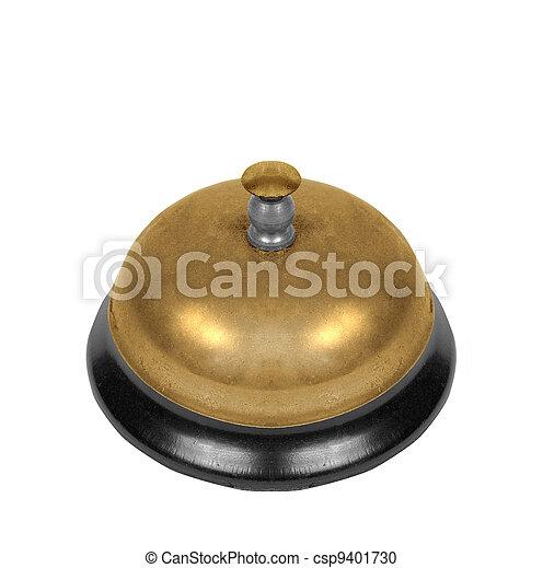 La campana de la escuela está aislada - csp9401730
