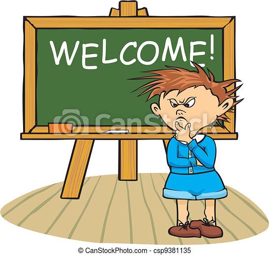 Bienvenido a la escuela - csp9381135