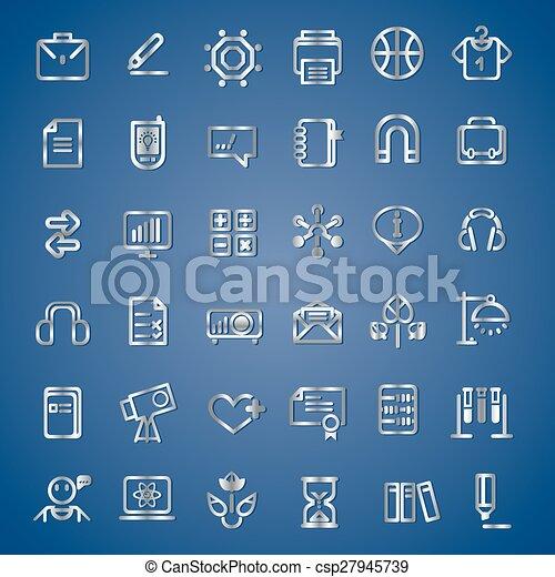 Los iconos de la escuela y la universidad - csp27945739