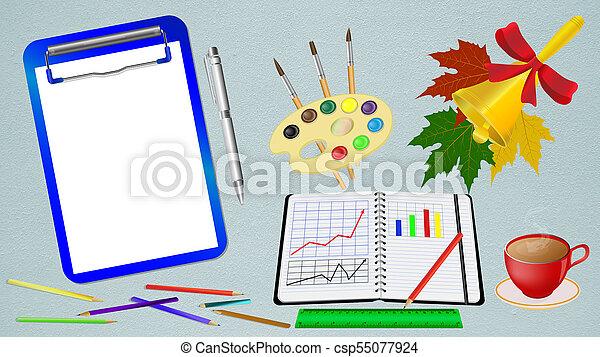 Negocios escolares de accesorios - csp55077924