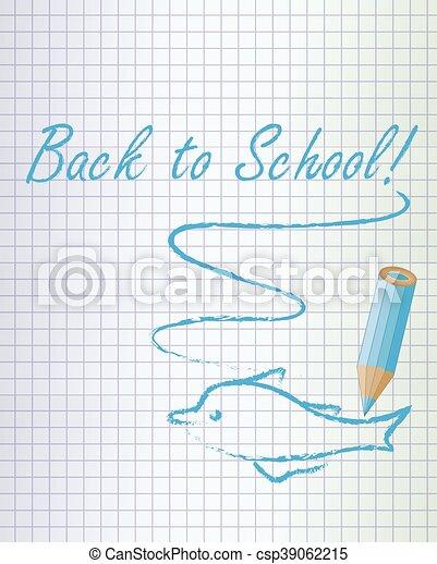 De vuelta a la escuela de delfines de fondo - csp39062215