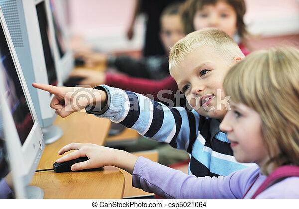 escuela, educación, él, niños - csp5021064