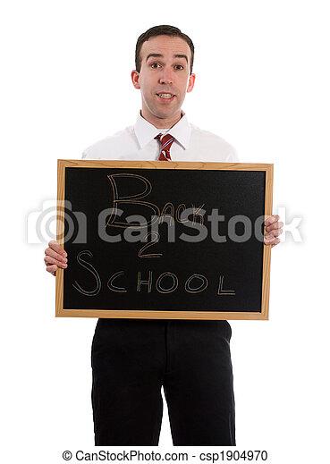 escuela, espalda - csp1904970