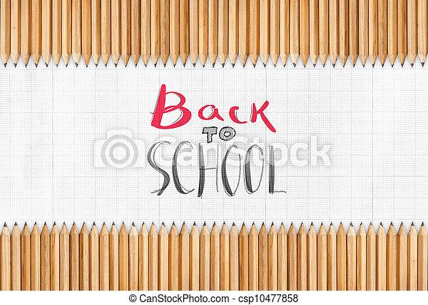 escuela, espalda - csp10477858